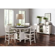 Madison County Round Dining Tableand 4 Stools - Vintage White