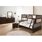 3000 Mission Hills Twin/Full Bed with Dresser & Mirror