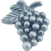 Vineyard Grapes Knob 2 Inch - Pewter