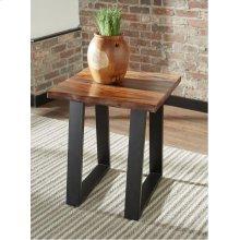 Industrial Grey Sheesham Side Table