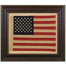 "Small : 31"" x 27"" with MATT American Flag"