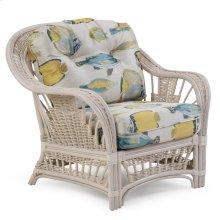 Rattan Lounge Chair Whitewash 4401