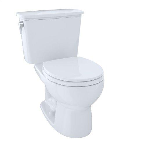 Eco Drake® Transitional Two-Piece Toilet, 1.28 GPF, Round Bowl - Cotton