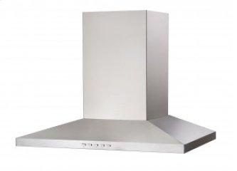 "30"" (76cm) stainless steel pyramid shaped wall-mount range hood"