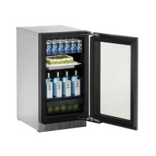 "18"" Glass Door Refrigerator Integrated Frame - Right-Hand Hinge"