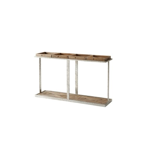 Six Console Table, Echo Oak