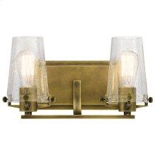 Alton 2 Light Vanity Light Natural Brass