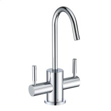 Point of Use Instant Hot/Cold Water Drinking Faucet with Gooseneck Swivel Spout