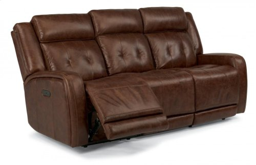 Jude Leather Power Reclining Sofa with Power Headrests