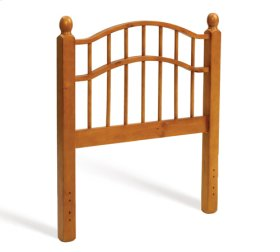 Double Rail Headboard - Honey Pine