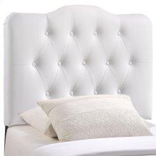 Annabel Twin Upholstered Vinyl Headboard in White