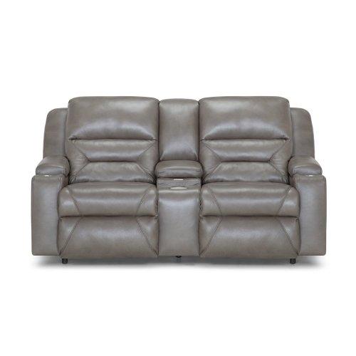 Power Recline/Power Headrest/Power Lumbar Reclining Sofa w/Wand/Fold Down Table w/USB/Lights/QI Charging/Lighted Cupholders/Dual Arm Storage/Drawer