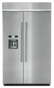 29.5 cu. ft 48-Inch Width Built-In Side by Side Refrigerator - Stainless Steel Product Image