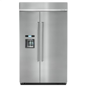 29.5 cu. ft 48-Inch Width Built-In Side by Side Refrigerator - Stainless Steel -