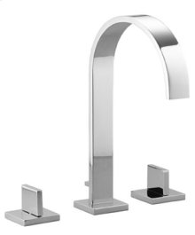 Three-hole lavatory mixer with drain - chrome