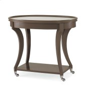 Lamp Table With Mirror Insert Top