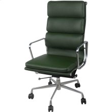Chandel PU High Back Office Chair , Vintage Asparagus
