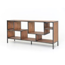 Helena Media Console-dark Antique Bleach