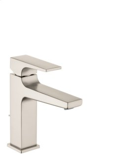 Brushed Nickel Single-Hole Faucet 110 with Lever Handle and Pop-Up Drain, 1.2 GPM
