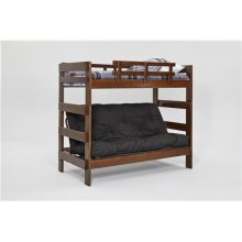 Heartland Futon Bunk Bed with Metal Deck with options: Chocolate, Not Included