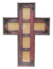 5x7 Red Cross Picture Frame Product Image