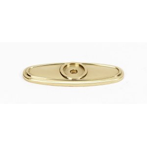 Classic Traditional Backplate A1565 - Polished Brass