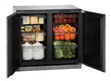 "Modular 3000 Series 36"" Solid Door Refrigerator With Integrated Solid Finish and Double Doors Door Swing"