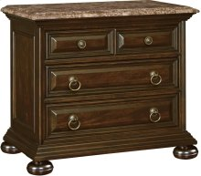 Ernest Hemingway ® Castillo Night Stand (Marble Top) (Maduro)