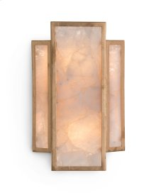 Calcite Panel Two-Light Wall Sconce