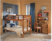 Heartland 2 x 6 One Piece Bunk Bed with options: Honey Pine, Twin over Twin, 2 Drawer Storage Product Image