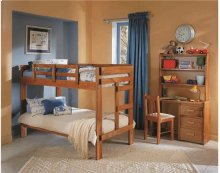 Heartland 2 x 6 One Piece Bunk Bed with options: Honey Pine, Twin over Twin, Twin Trundle