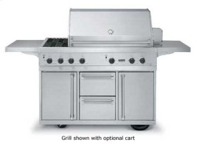 """53"""" Ultra-Premium E-Series Grill with Side Burner and TruSear - VGIQ (53"""" wide with two standard 25,000 BTU stainless steel burners and one 30,000 BTU TruSear infrared burner (Natural Gas))"""