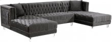 Moda Velvet 3pc. Sectional - 127''L x 68.5''D x 31.5''H