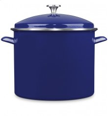 16 Qt. Stockpot w/Cover - Cobalt Blue