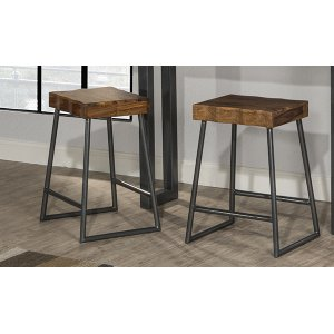 Hillsdale FurnitureEmerson Manufactured Live Edge Square Non-swivel Counter Stool - Natural Sheesham