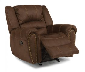 New Town Fabric Gliding Recliner