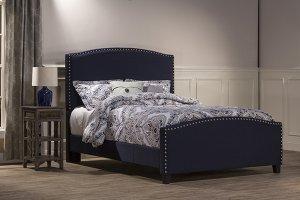 Kerstein Bed Set - Queen - Rails Included - Navy Linen