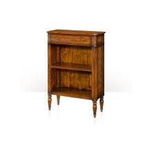 Republic Bookcase - Acacia & Leather Inlaid