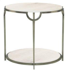 Morello Round Metal End Table