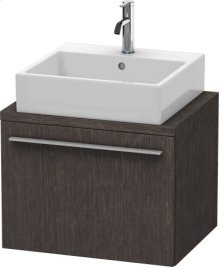 X-large Vanity Unit For Console Compact, Brushed Dark Oak (real Wood Veneer)