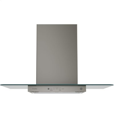 """GE Profile™ Series 30"""" Wall-Mount Glass Canopy Chimney Hood Product Image"""