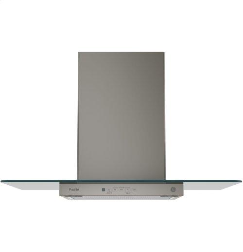 "GE Profile™ Series 30"" Wall-Mount Glass Canopy Chimney Hood"