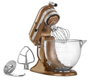 Artisan® Design Series 5 Quart Tilt-Head Stand Mixer with Glass Bowl - Antique Copper