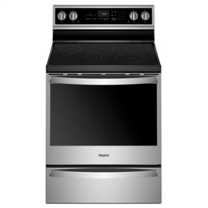 6.4 cu. ft. Smart Freestanding Electric Range with Frozen Bake Technology - FINGERPRINT RESISTANT STAINLESS STEEL