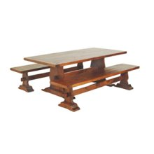 Trestle Drawleaf Table