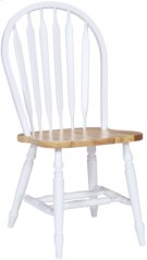 Arrowback Chair White & Natural Product Image