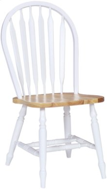Arrowback Chair Natural & White