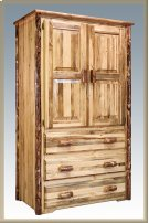 Glacier Country Log Armoire Product Image