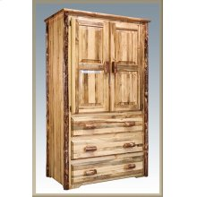 Glacier Country Log Armoire