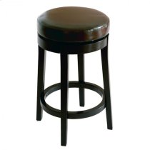 "Mbs-450 26"" Backless Swivel Barstool in Brown Bonded Leather Product Image"